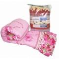 Одеяло Облегченное Овечья шерсть , сатин , вес 300 гр\м2 , в сумке ПВХ