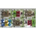 Набор Турецких вафельных полотенец (3шт. 40х40 см) с вышивкой в подарочной коробке (100 % хлопок) арт. 009