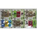 Набор Турецких вафельных бамбуковых полотенец (3шт. 40х60 см) с вышивкой в подарочной коробке арт. 014