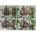 Набор Турецких вафельных бамбуковых полотенец (6шт. 30х50 см) с вышивкой в подарочной коробке арт. 015